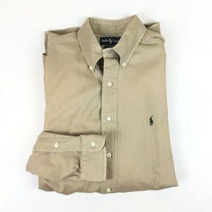 Ralph Lauren Blake Shirt Men's Large Khaki Twill